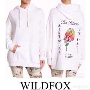 """Wildfox """"The Future Ain't"""" Oversized Hoodie"""